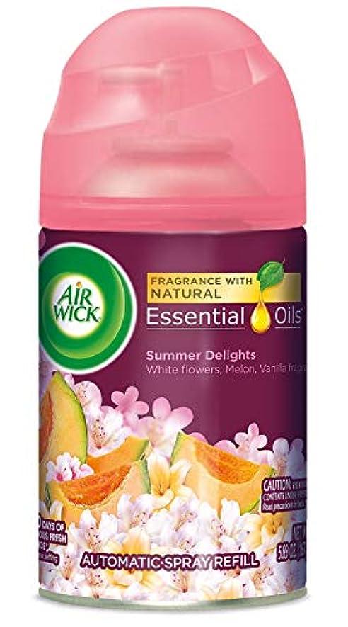 政府先にうがい薬Air Wick ライフ香りFreshmatic詰め替え用自動スプレー、夏の歓喜、6.17オンス、エア?フレッシュナー