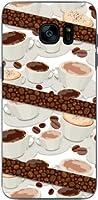 液晶保護フィルム 付 ギャラクシー エスセブンエッジ [SC-02H SCV33] GALAXY S7 edge TPU ソフトケース コーヒーとコーヒー豆 docomo au スマホケース ドコモ エーユー スマホカバー デザインケース
