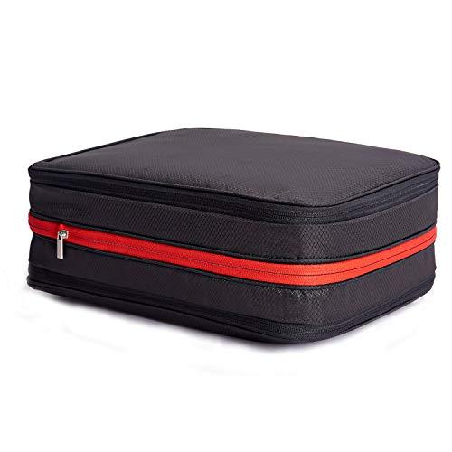 超便利旅行圧縮バッグ ファスナーで簡単圧縮で衣類スペース50%節約 軽量 コート&ダウンジャケット衣類を収納 出張 旅行 便利グッズ 衣類仕分け(綺麗な衣類&汚れた衣類) 超大容量 26L