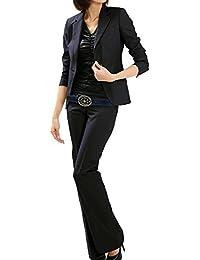 パンツスーツ リクルートスーツ レディススーツ ネイビー ウォッシャブル 就活 13号 上下別サイズ対応スーツ