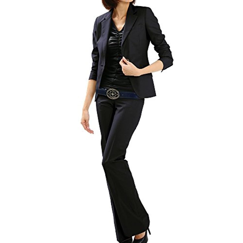 パンツスーツ リクルートスーツ レディススーツ ネイビー ウォッシャブル 就活 3号 上下別サイズ対応スーツ