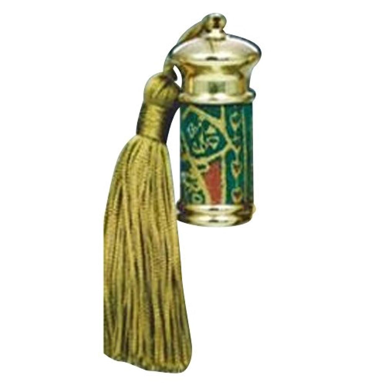 苗全体海岸ヒロセアトマイザー エスニック レザー ボトル (真鍮 革巻き) 23012 GR (グリーン)