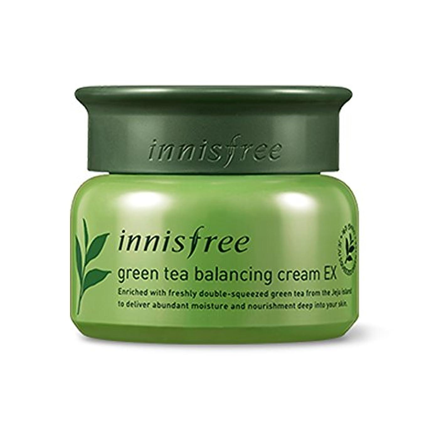 爆発する学期克服するイニスフリーグリーンティーバランスクリーム50ml「2018新製品」 Innisfree Green Tea Balancing Cream 50ml