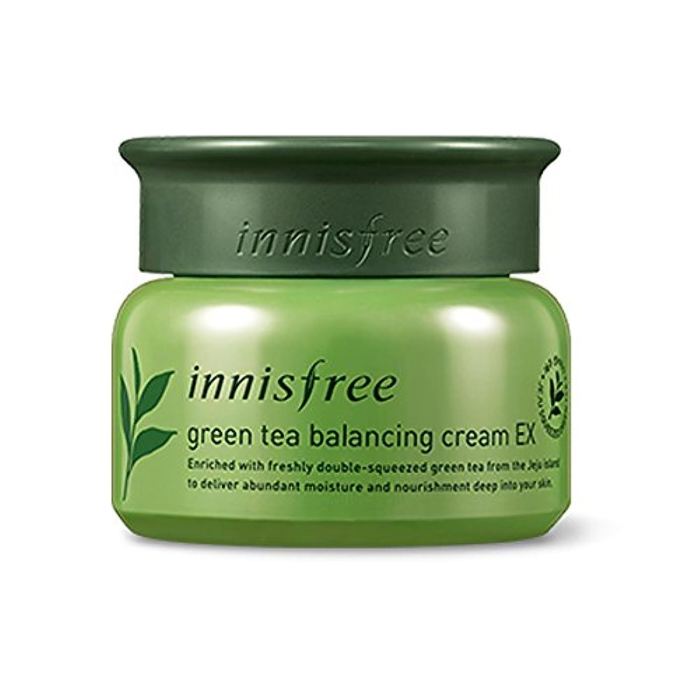 原因農民閃光イニスフリーグリーンティーバランスクリーム50ml「2018新製品」 Innisfree Green Tea Balancing Cream 50ml