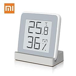 Homidy デジタル湿度計 温度計 室内 高精度±0.3℃ E-Ink大画面 温湿度計 360度見やすい 顔文字でお知らせ 置き・掛け・貼り三用(マグネット付) 日本語説明書