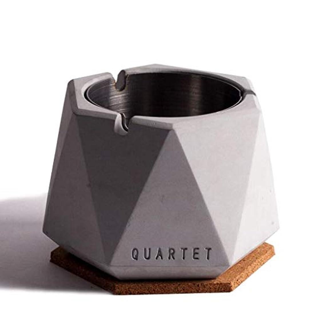 靴化学啓発する北欧シンプル風ステンレス鋼セメント灰皿人格クリエイティブホテルインターネットカフェバー北欧産業風ふた付き灰皿 QYSZYG (Color : C)
