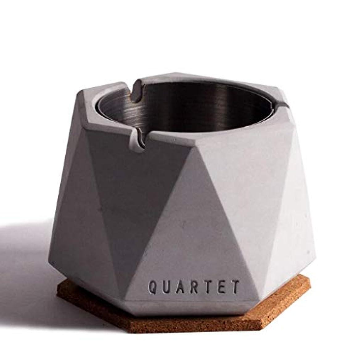 プロフェッショナルもつれ速報北欧シンプル風ステンレス鋼セメント灰皿人格クリエイティブホテルインターネットカフェバー北欧産業風ふた付き灰皿 QYSZYG (Color : C)