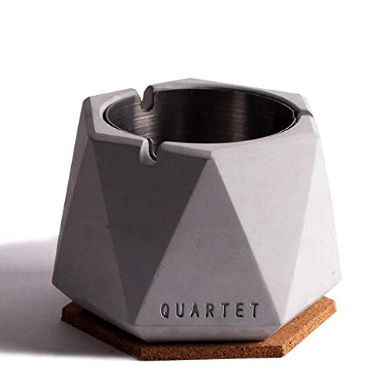 理解泣き叫ぶシチリア北欧シンプル風ステンレス鋼セメント灰皿人格クリエイティブホテルインターネットカフェバー北欧産業風ふた付き灰皿 QYSZYG (Color : C)