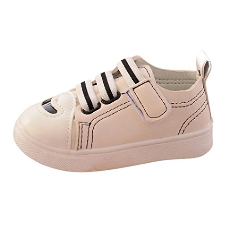 Kukiwa 運動靴 男の子シューズ ストライプレジャー スポーツ靴  カジュアルシューズ ランニングシューズ 女の子 幼児  足に優しい  ゆったり  抗菌防臭