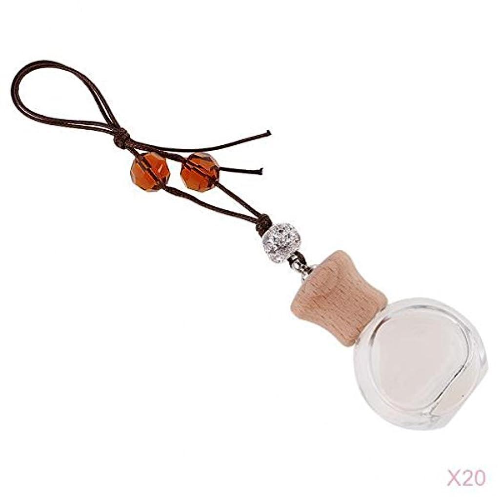 地図位置する表現SunniMix 20個入り ぶら下げ 空 香水ボトル 車 室内 装飾 ペンダント 香水瓶 詰め替え