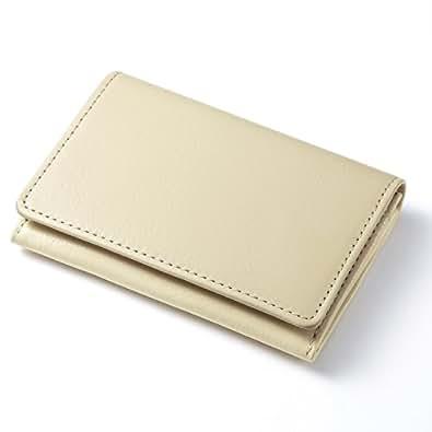 [FavoriteStyle] 本革 名刺入れ カードケース 22colors (アイボリーホワイト)