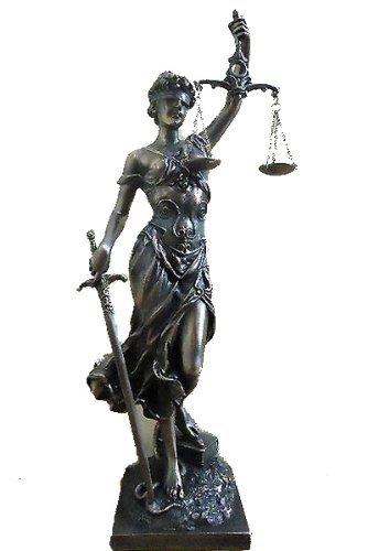 正義の女神 テミス テーミス 彫像; 法律の正義 を象徴する 彫像、ブロンズ風 キャスト 彫刻