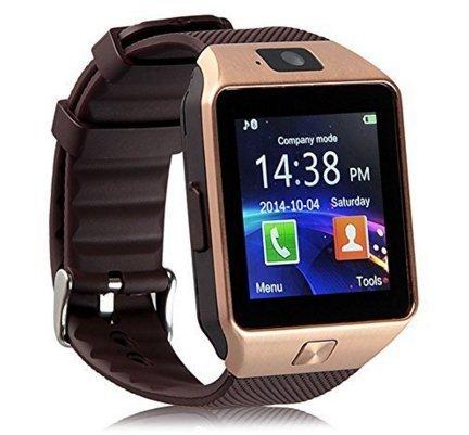 JIAZY 1.54インチ 超薄型フルタッチ スマートウォッチ 長座注意 歩数計 腕時計 通話機能搭載 Android/IOS対応(ゴールド)