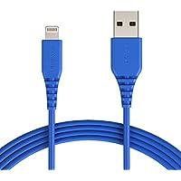 Amazonベーシック ライトニングケーブル USB 【iPhone対応 / Apple MFi認証】 ブルー 3.0m