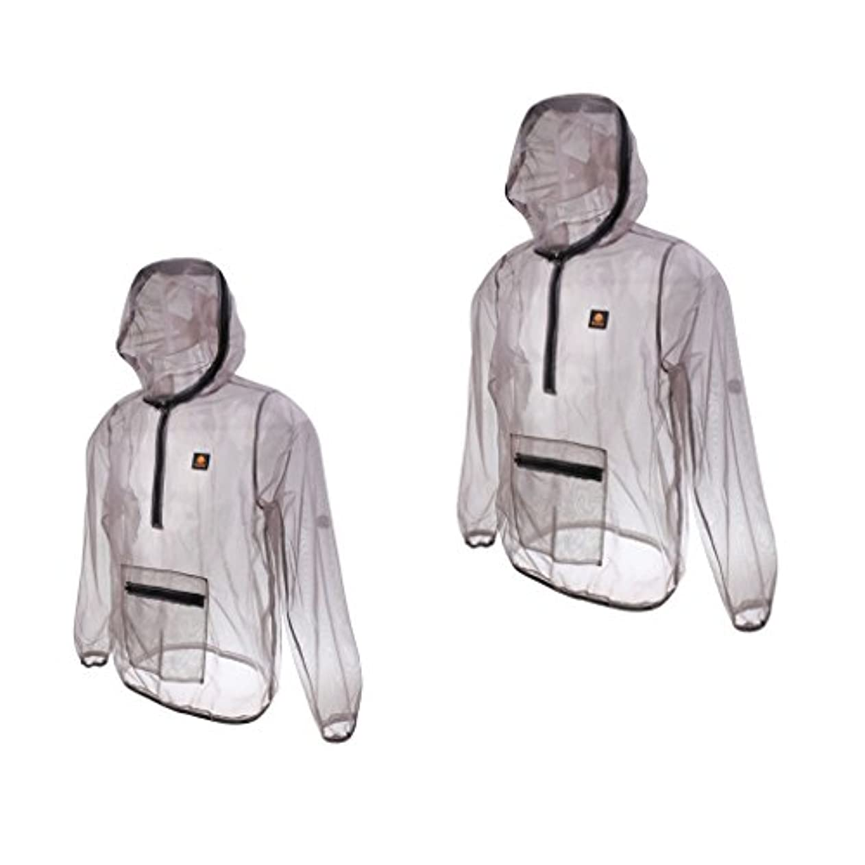 無臭弱点変動する2サイズセット XL + XXL 蚊よけジャケット 屋外活動 軽量 虫よけ メッシュ 速乾性 ガーデニング