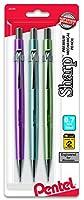 Pentel Of America P207MBP3M1 Sharp Mechanical Drafting Pencil, Assorted Barrels - 0.7 Mm,