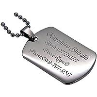 ドッグタグ 認識票 ミディアム サイズ IDプレート 316 ステンレス ペンダント アイランドフィル仕上 プレゼント