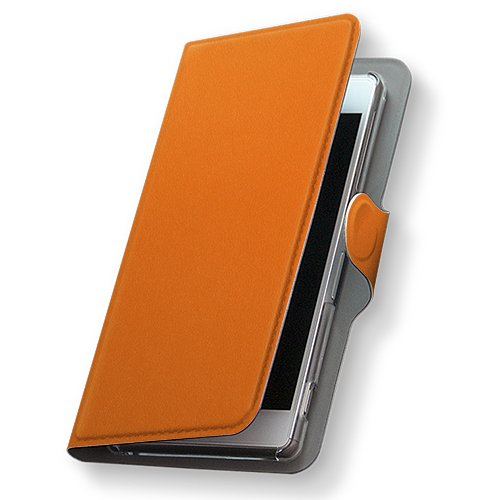 GALAXY S4 SC-04E ケース 手帳型 スマコレ 全機種対応 有り レザー 手帳タイプ 革 フリップ ダイアリー 二つ折り 横開き 革 SC04E ケース スマホケース スマホカバー その他 009001 Samsung サムスン docomo ドコモ シンプル 無地 オレンジ sc04e-009001-nb