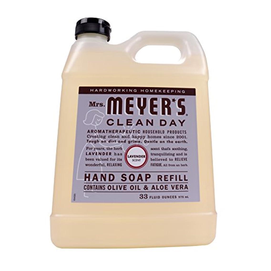 負担注釈を付ける仕事に行くMrs. Meyers Clean Day, Liquid Hand Soap Refill, Lavender Scent, 33 fl oz (975 ml)