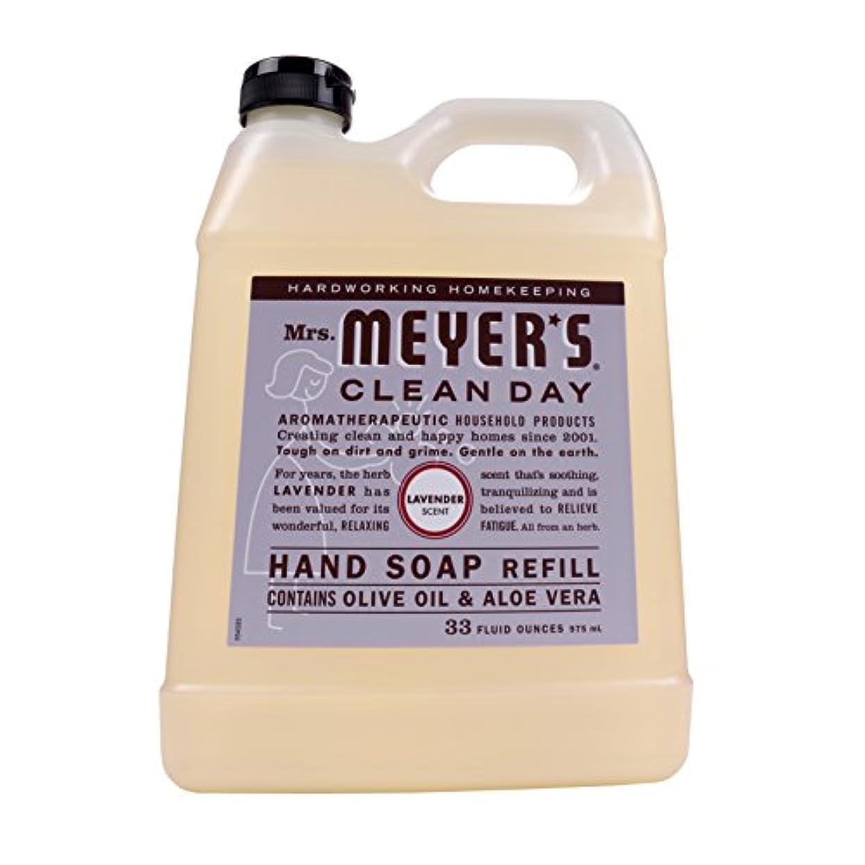 ねじれ敬意を表する行き当たりばったりMrs. Meyers Clean Day, Liquid Hand Soap Refill, Lavender Scent, 33 fl oz (975 ml)
