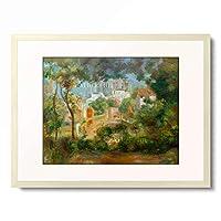 ピエール=オーギュスト・ルノワール Pierre-Auguste Renoir 「Les jardins de Montmartre donnant vue a Sacre-Coeur en chantier」 額装アート作品