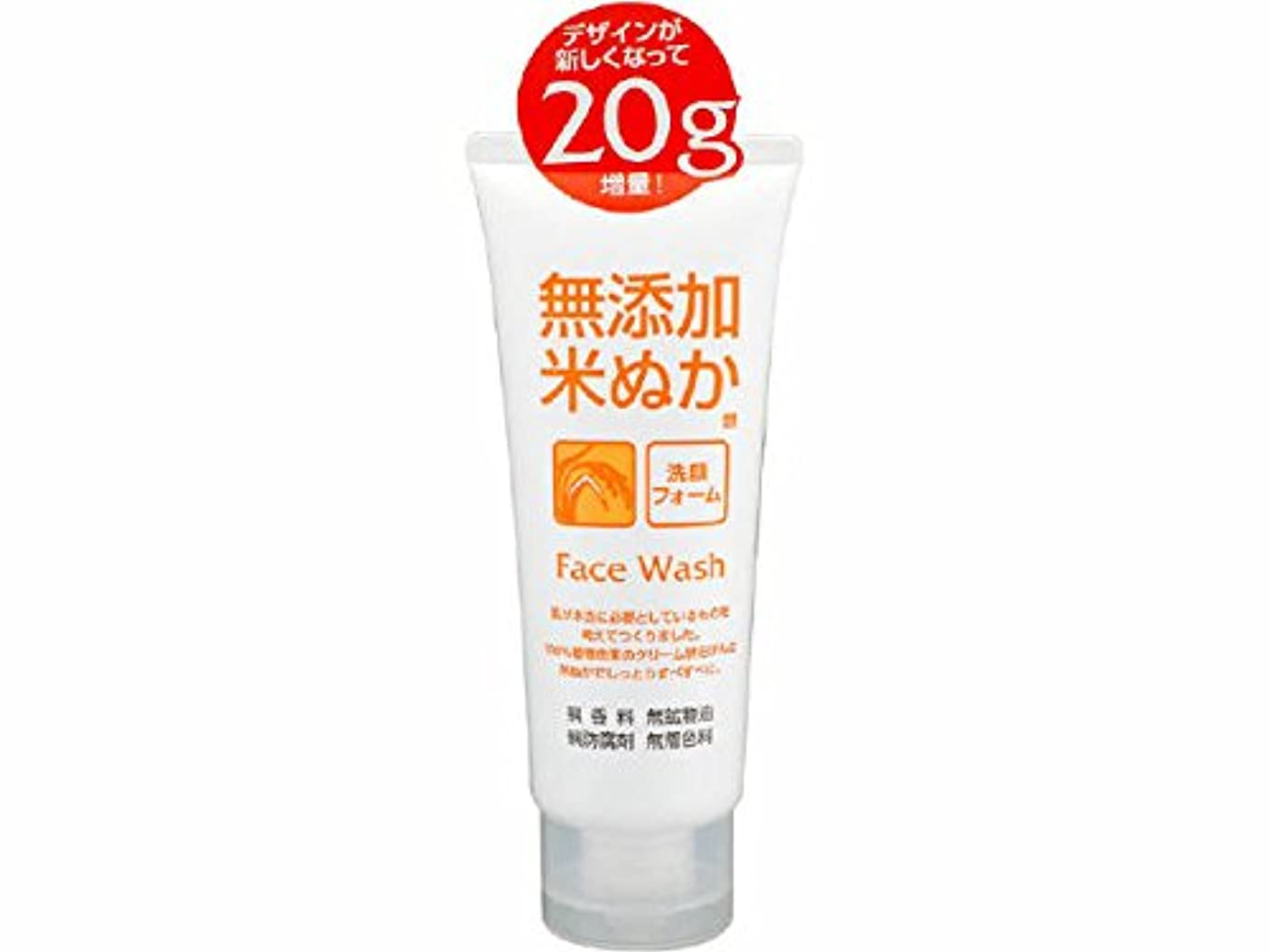 ワット動く質量ロゼット(ROSETTE) 無添加米ぬか 洗顔フォーム 140g 100%植物由来のクリーム状石けんに米ぬかエキスを配合した洗顔フォーム×48点セット (4901696534069)
