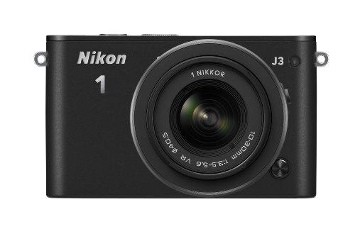 Nikon ミラーレス一眼 Nikon 1 J3 標準ズームレンズキット1 NIKKOR VR 10-30mm f/3.5-5.6付属 ブラック N1J3HLKBK