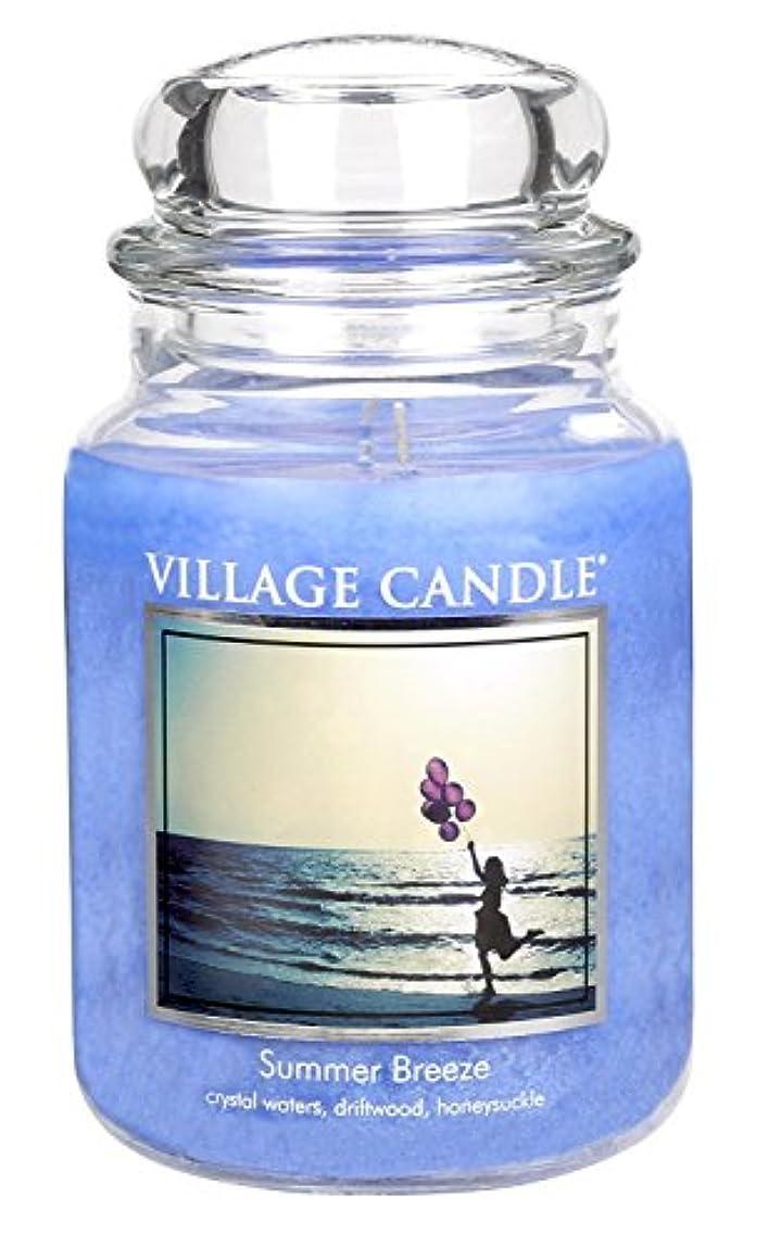 ルーレッドデート八百屋さんVillage Candle Summer Breeze 26 oz Glass Jar Scented Candle, Large [並行輸入品]