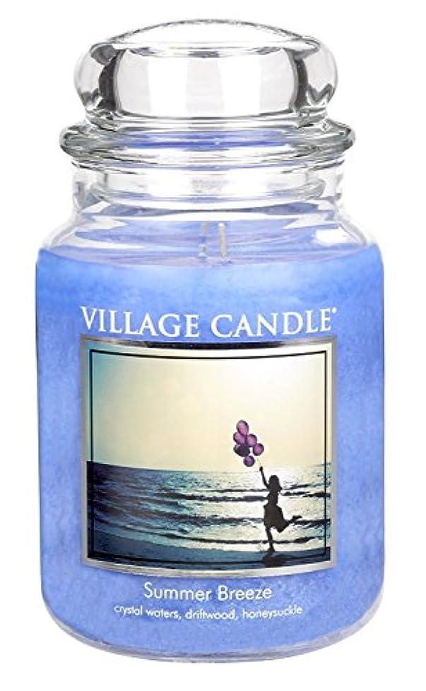 ダウンタウン引退するマングルVillage Candle Summer Breeze 26 oz Glass Jar Scented Candle, Large [並行輸入品]