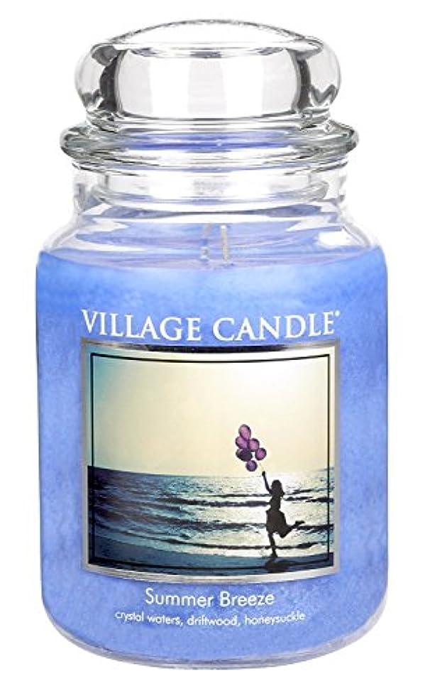 ほとんどないゼログリップVillage Candle Summer Breeze 26 oz Glass Jar Scented Candle, Large [並行輸入品]