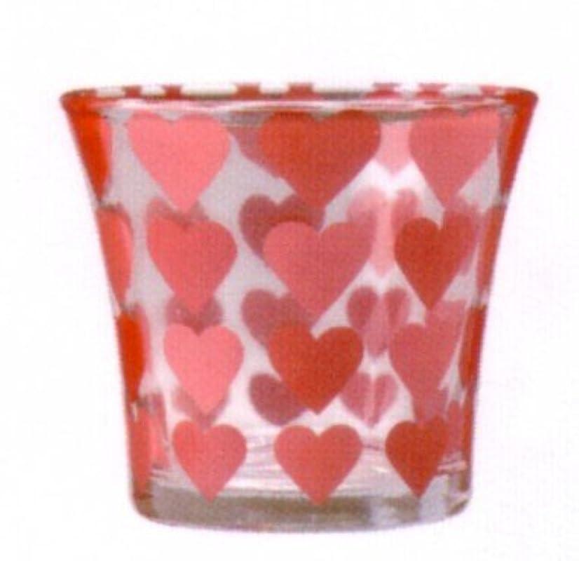 砂利バッテリー家畜ハートカップ ピンク