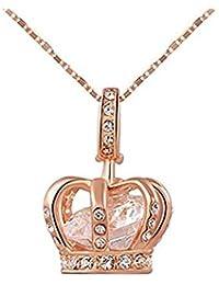 RMXMY 軽い豪華な宝石のネックレスは、金のシンプルな気質センファッション野生の鎖骨のチェーンをバラ