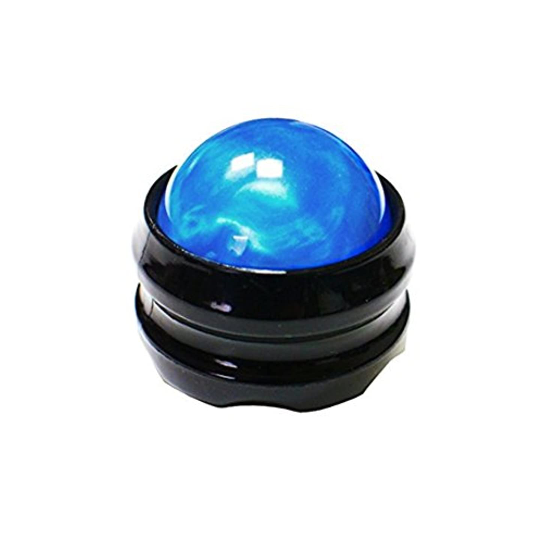 Besthomelife マッサージ ボール 360度回転 背中 首 腰  筋膜リリース 健康器具 (青)