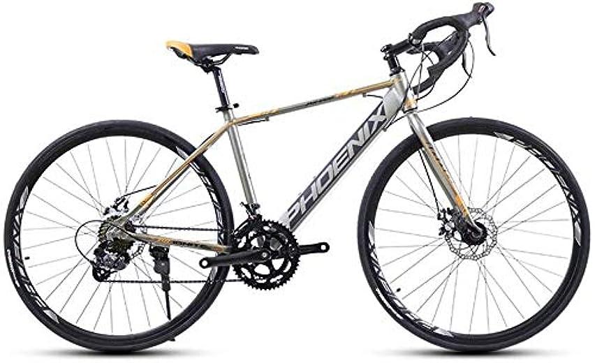 餌トランジスタ保安大人ロードバイク、14スピード700Cホイールロード自転車、合金フレーム自転車でディスクブレーキ、パーフェクトのために道路やダートトレイルツーリング