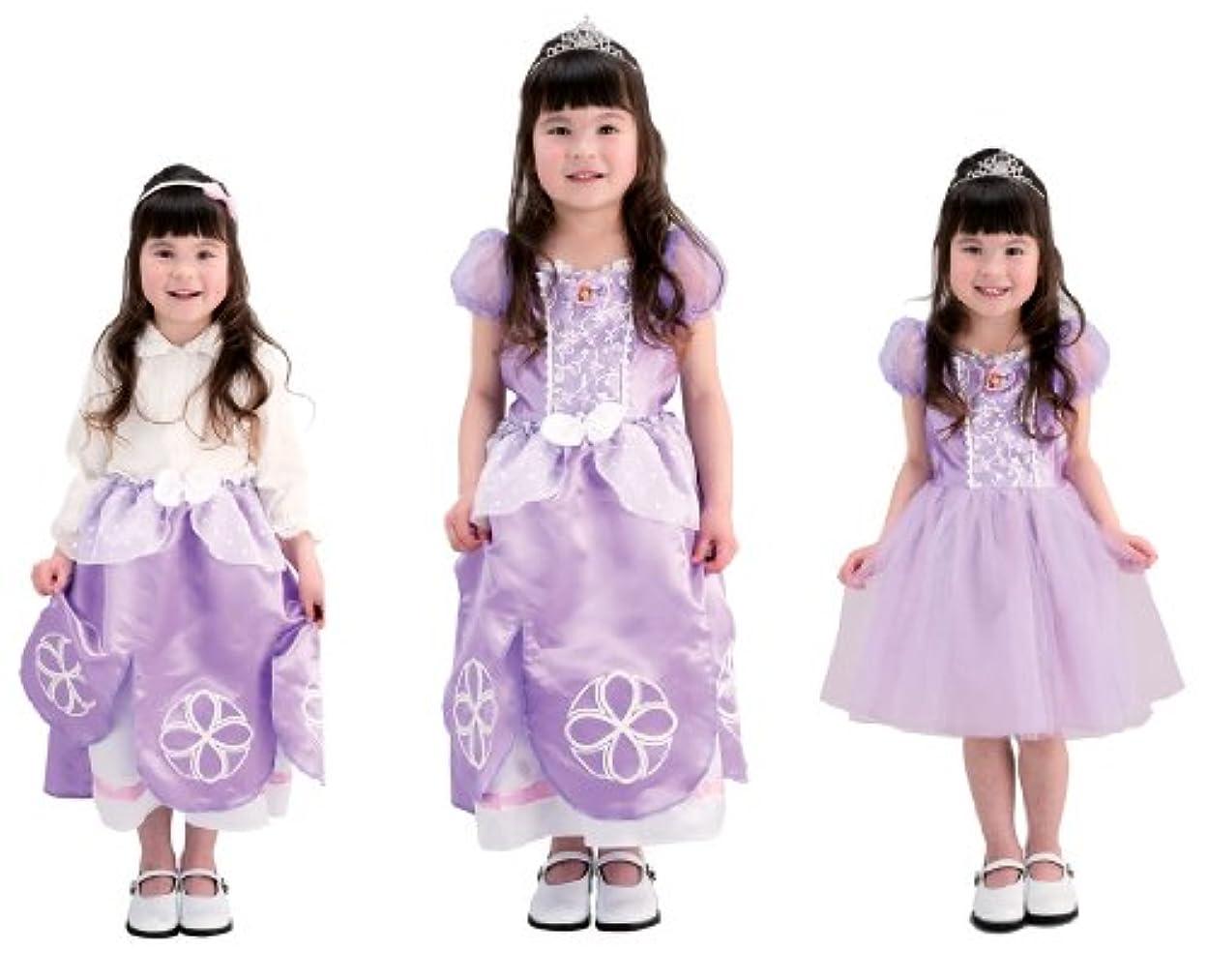 童謡隣接する集めるディズニー ちいさなプリンセスソフィア かわいい3WAYドレス 100cm-110cm