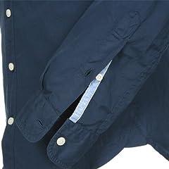 Hackett Garmet Dye Poplin Shirt HM300711: Navy