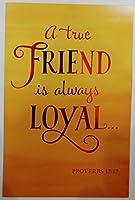特別な誕生日Blessings to You Friend Proverbs 17: 17グリーティングカードReligious