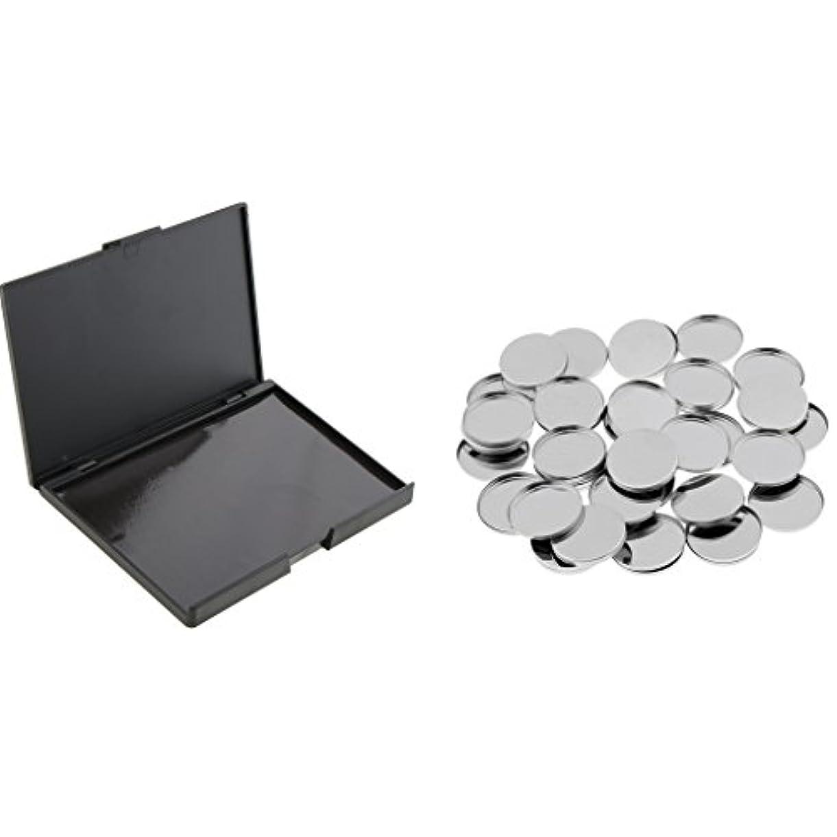 助言樹皮むちゃくちゃ磁気パレットボックス 金属缶 空缶 メタルパン 磁気パレット アイシャドー用 DIY 化粧品