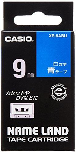 ネームランドテープ スタンダードテープ 9mm 青テープ(白文字) 1個 XR-9ABU