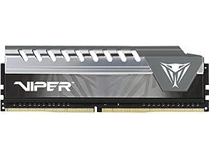 PATRIOT パトリオットメモリー デスクトップ用メモリ Viper Elite シリーズ DDR4 2400MHz (PC4-19200) 16GB ブラック・グレーヒートシンク PVE416G240C6GY