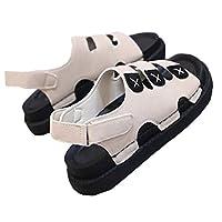 [CAIXINGYI]サマーサンダル おしゃれ 滑り止め シンプル おしゃれ スポーツ レディース カジュアル ビーチ クリーム色23.5