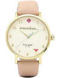 [ケイトスペード] 腕時計 レディース KATE SPADE 1YRU0484 KSWB0484 ゴールド ベージュ [並行輸入品]