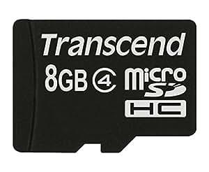 Transcend microSDHCカード 8GB Class4 変換アダプタ無し (無期限保証) TS8GUSDC4