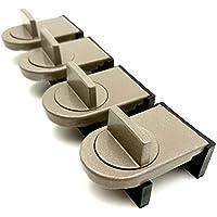 (TUISKU) 窓ロック サッシ ストッパー 4個 セット 補助錠 ベランダ 窓 鍵 防犯 (4個)