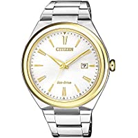 Citizen Men's Solar Powered Wrist watch, stainless steel Bracelet analog Display and Stainless Steel Strap, AW1374-51B