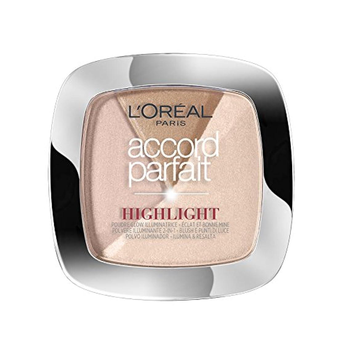 上陸しなければならないワックスL'OREAL PARIS Make up designer accord parfait highlight poudre 202.n éclat neutre rosé