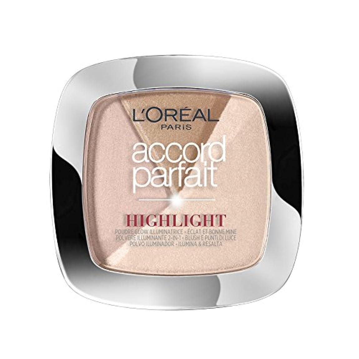不適日の出固体L'OREAL PARIS Make up designer accord parfait highlight poudre 202.n éclat neutre rosé