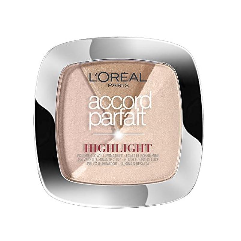 ソーセージロデオ心臓L'OREAL PARIS Make up designer accord parfait highlight poudre 202.n éclat neutre rosé