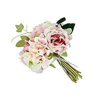 Perfk ウェディングブーケ ブーケ フラワー 造花 バラ 紫陽花 シャクヤク 花嫁 ブライドメイド 結婚式 パーティー インテリア かわいい