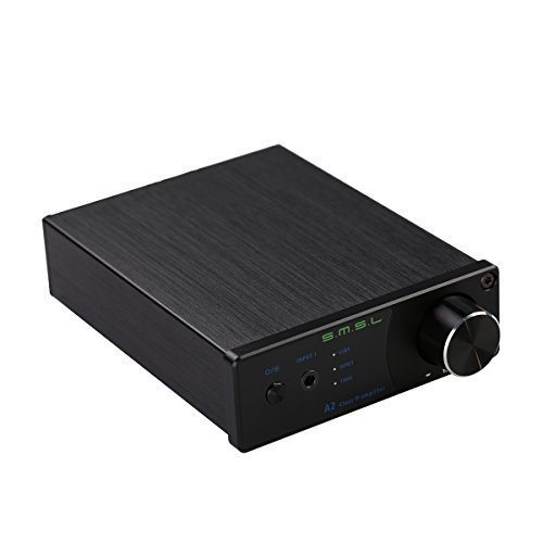 Gemtune SMSL A2 HiFi 2.0 Pure Digital Audio Amplifier TDA7492 DV24V Input AUX/RCA Active Subwoofer Output 40W+40W LED Display EQ Setting(black) by SMSL [並行輸入品]
